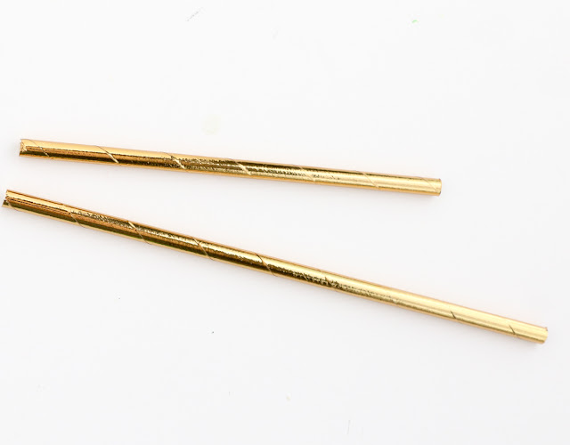 Mini Succulent and Gold Drink Stirrers