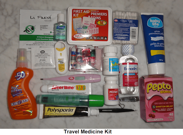 What to put in your travel medicine kit?