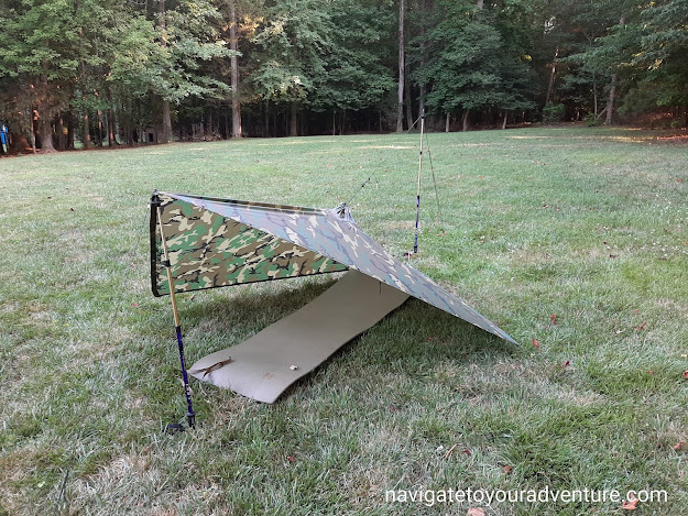 Military Poncho Shelter Configurations Using Trekking Poles
