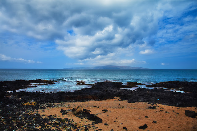 Maui Ocean with Clouds