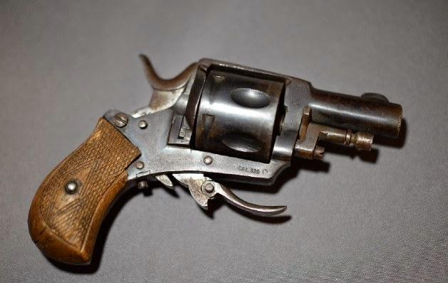 Antique folding trigger 32 Revolver Liege Belgium