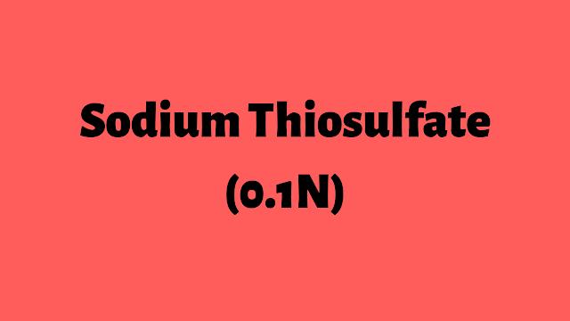 0.1 n Sodium thiosulfate