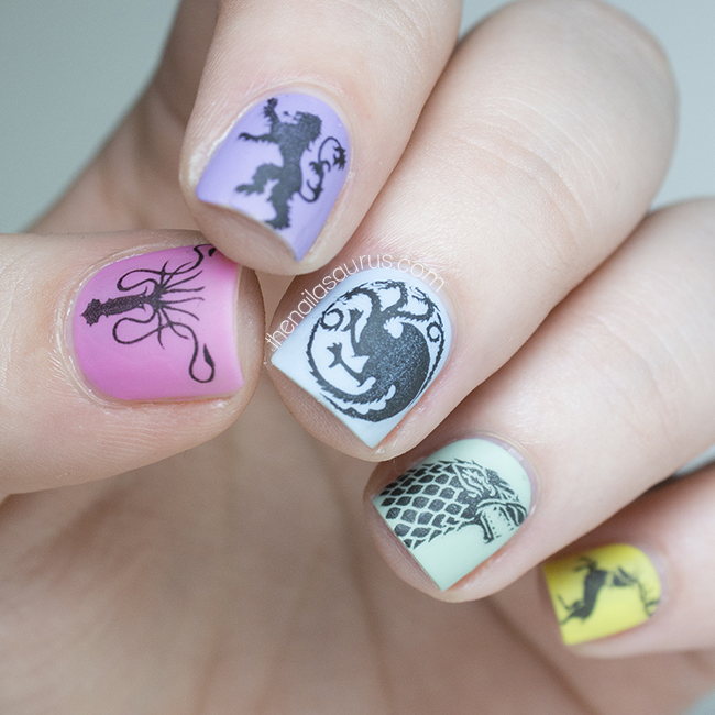 Girly Nail Art: Game Of Girly Thrones - The Nailasaurus