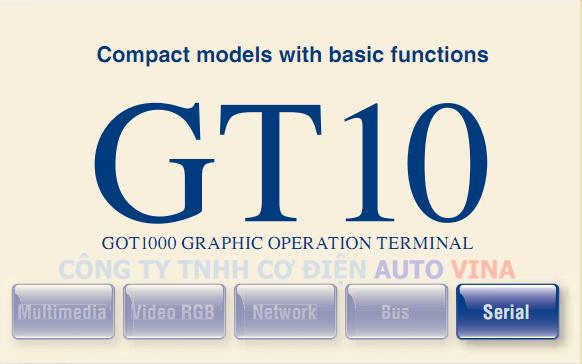 Màn hình Mitsubishi GT10 thuộc dòng GOT1000 Series