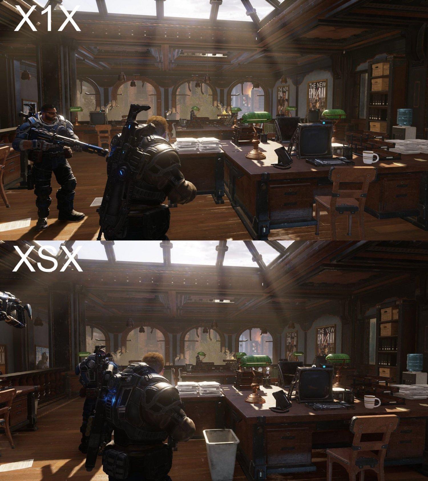 Gears 5: Look on Xbox Series X Vs Look on Xbox One X