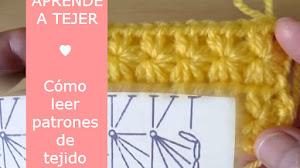 Aprende a comprender un gráfico de crochet paso  a paso / Punto estrella