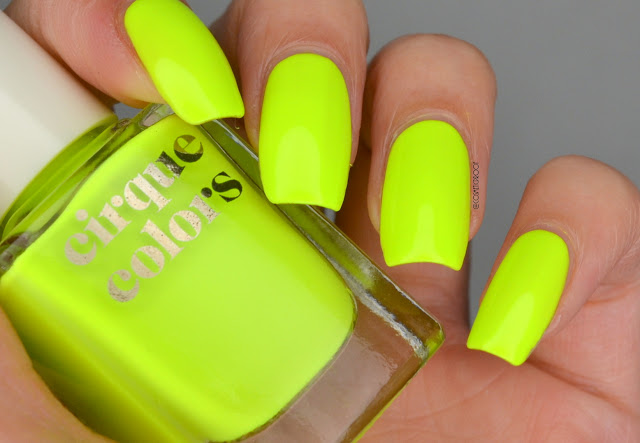 Cirque Colors Electric Daisy Swatch