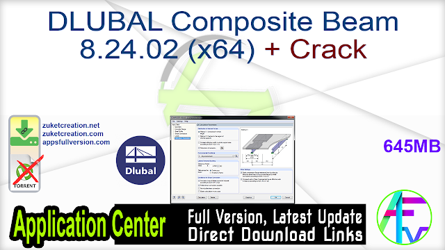 DLUBAL Composite Beam 8.24.02 (x64) + Crack