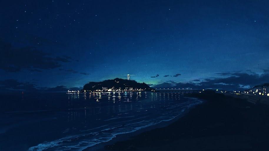 Anime Night Sky Wallpaper 4 K