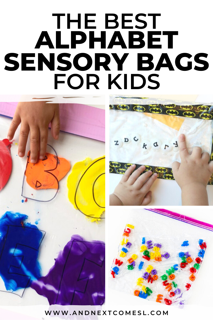 ABC and alphabet sensory bag activities for kids of all ages - babies, toddlers, and preschoolers!