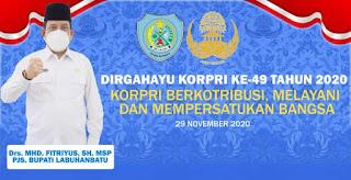 Hari Jadi Korpri ke 49 Diperingati Di Kabupaten Labuhanbatu