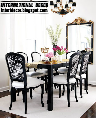classic Italian dining room furniture ideas, black and white dining room furniture