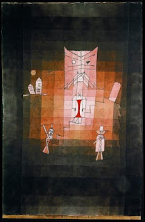 Paul Klee painting - The Mountain of the Sacred Cat
