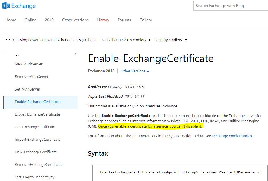 Clint Boessen's Blog: Binding a Certificate breaks IMAP or