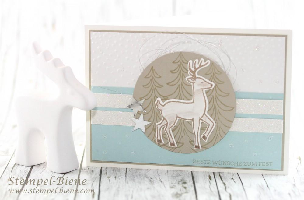 Stempel-Biene: Weihnachtskarte mit Stampin\' Up! Weihnachtsschlitten