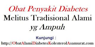Obat Penyakit Diabetes Melitus Tradisional Alami yg Ampuh