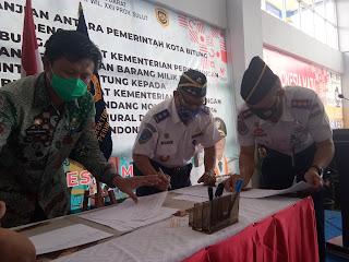 Pemkot Bitung Serahkan Aset Terminal Tangkoko Kepada Dirjen Perhubungan Darat Kementerian Perhubungan RI
