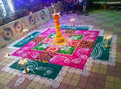 Flowers Creative Rangolis