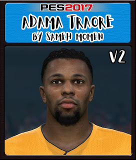 PES 2017 Faces Adama Traore by Sameh Momen