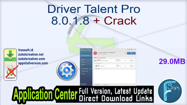 Driver Talent Pro 8.0.1.8 + Crack