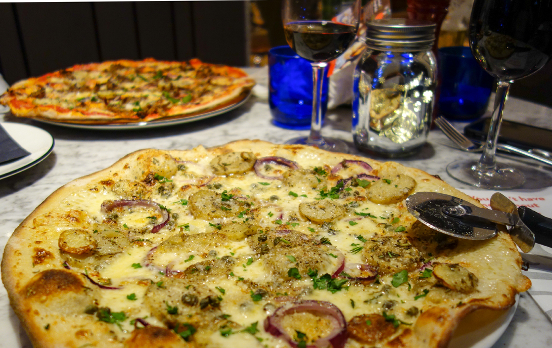 Potato and Fontal Pizza