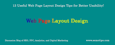 Web Page Layout Design Tips