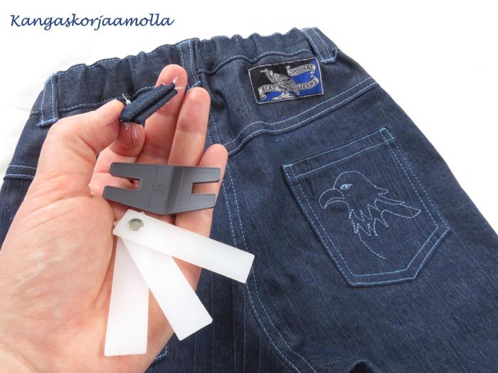 ompelun apuvälineet farkkujen tikkaamiseen