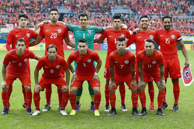 Formación de Chile ante Islandia, China Cup 2017, 15 de enero