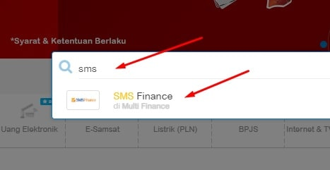 Cek angsuran sms finance online