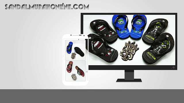 Sandal Karakter Online Murah - Sandal AMX Club Bola Simplek Anak