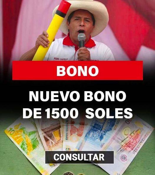 Bono Patriótico ONP De 1500 Soles