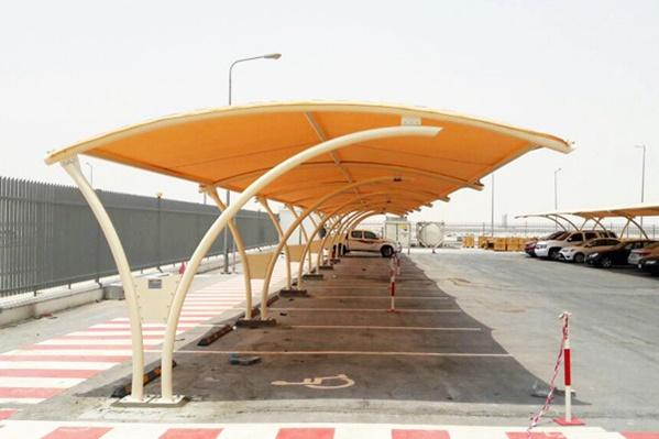 مظلات مواقف سيارات | مؤسسة تنفيذ مشاريع رسمية