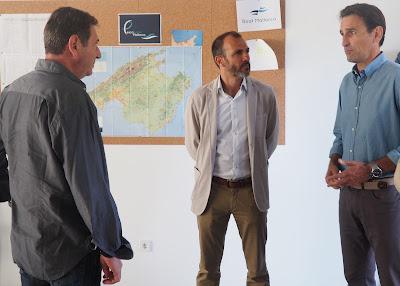 Biel Barceló visita las oficinas de Pescaturismo