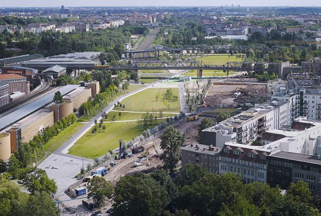 História do parque Gleisdreieck em Berlim