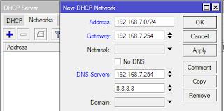 Membuat DHCP Network Mikrotik