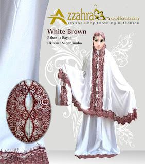 Gambar untuk Telekung Mukena Bali Azzahra  Renda Brown