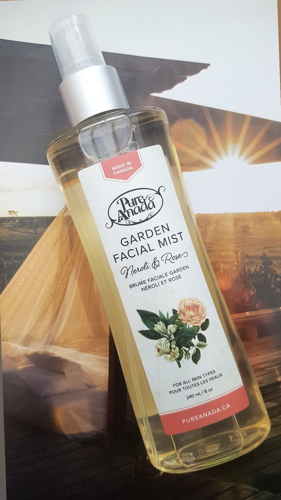 Pure Anada Garden Facial Mist Review from Live in the Light