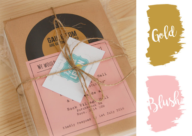 Custom Colour Record Invitations