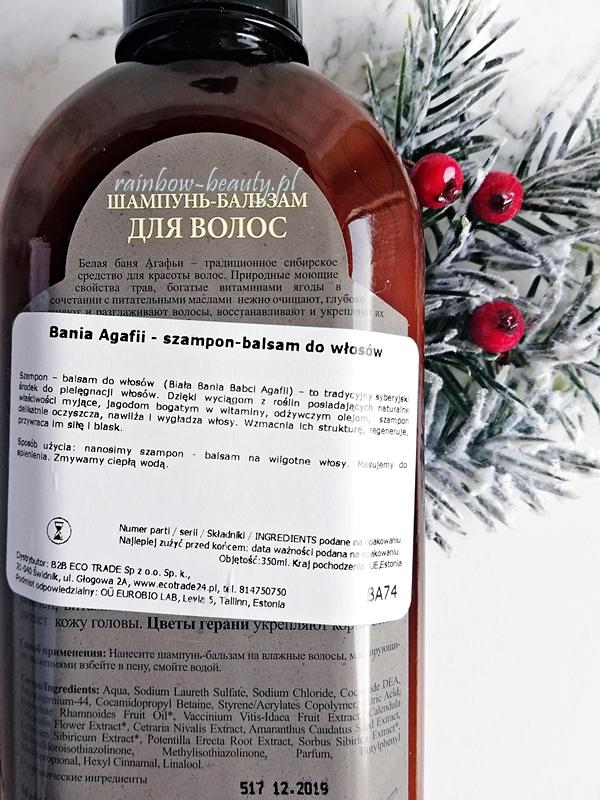 bania-agafii-szampon-balsam-do-wlosow-biala-kapiel-opinie-blog