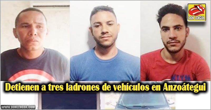 Detienen a tres ladrones de vehículos en Anzoátegui