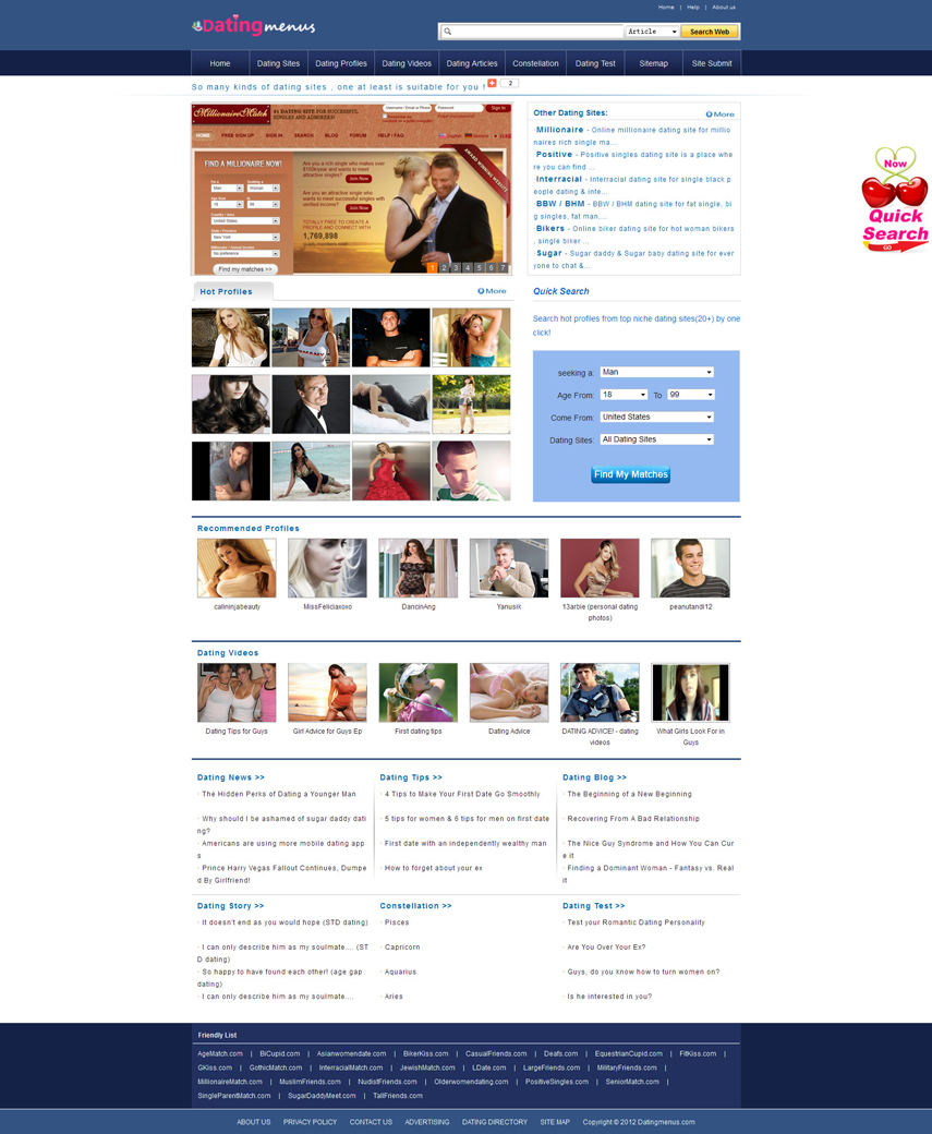 new dating sites for free 2012