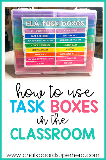 how to use task boxes in the special education classroom