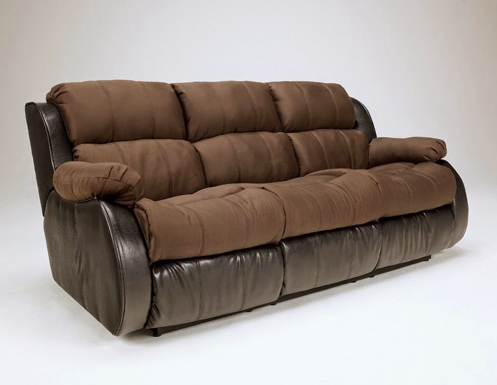 Cheap recliner sofas for sale presley cocoa reclining sofa and loveseat Ashley couch and loveseat