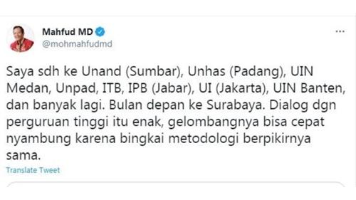 Mahfud Sebut Unhas di Padang, Netizen: Majikan dan Pembantu Gak Jauh Beda