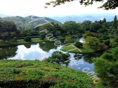 Another View of Yokuryuchi Pond from top of Villa