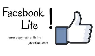 Cara Copy Text di Facebook Lite