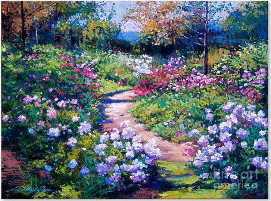 Im genes arte pinturas paisajes con flores lindos - Oleos de jardines ...