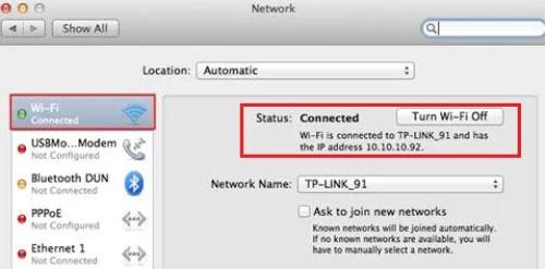 كيفية معرفة الآي بي الخاص بي في نظام التشغيل ماك OS