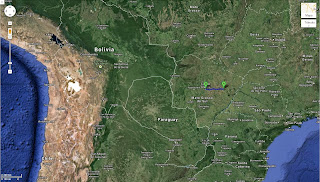 Trajeto de Água Clara/MS/Brasil a Campo Grande/MS/Brasil - 198 km.