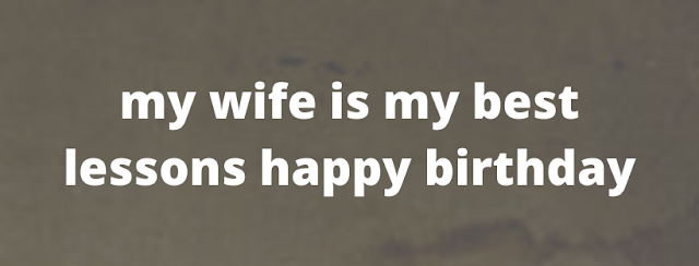 birthday status for wife